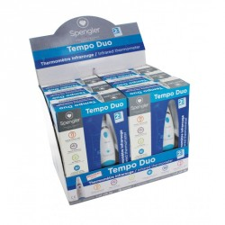Présentoir 6 Thermomètres électroniques auriculaires frontaux