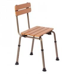 Chaise de douche aspect bois